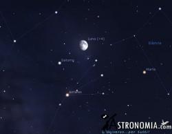 Congiunzione Luna - Saturno, giorno 15 ore 21:30