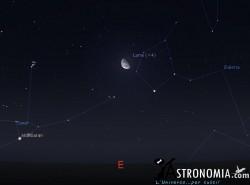 congiunzione Luna  - Pleiadi, giorno 24 ore 00