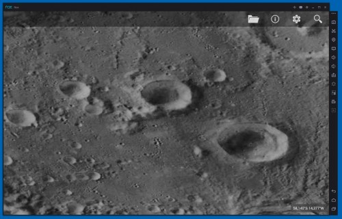 il dettaglio dell'interno del cratere di Clavius