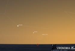 Congiunzione Luna - Giove - Venere, giorno 2 ore 20