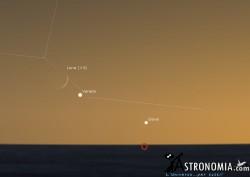 Congiunzione Luna - Venere, giorno 3 ore 20