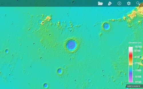 il cratere Copernicus in falsi colori