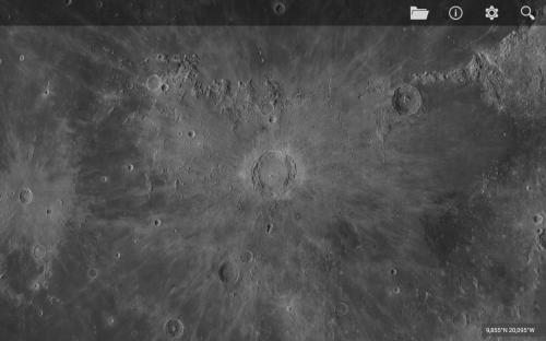 il bellissimo e famoso cratere Copernico