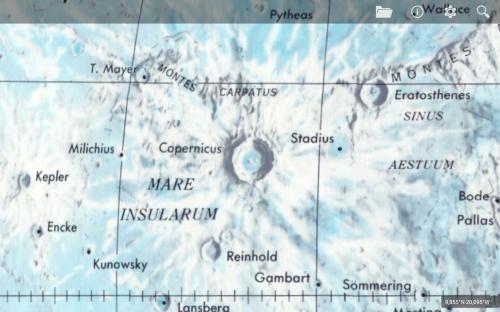 la mappa lunare LPC-1 del 1979