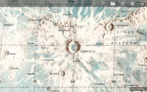la mappa lunare LMP del 1976