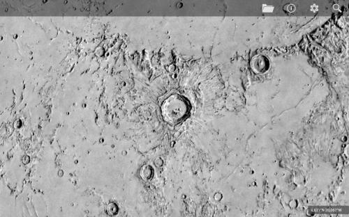 Copernicus in una mappa dell'USGS