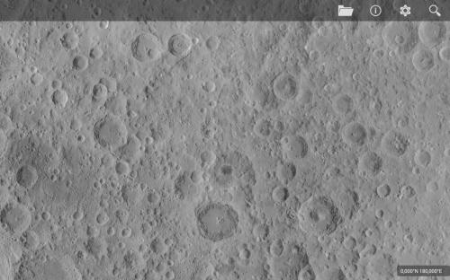 un dettaglio del lato nascosto della Luna