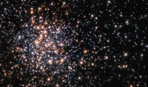 Immagine dell'ammasso stellare Terzan5 ottenuta dal Very Large Telescope dell'ESO con il sistema di ottica adattiva MAD (Multi-Conjugate Adaptive Optics Demonstrator) Crediti: ESO/F. Ferraro