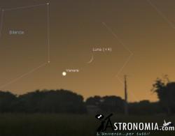 Congiunzione Luna - Venere, giorno 3 ore 19