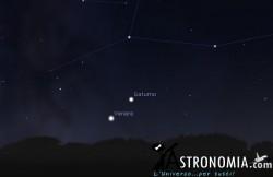Congiunzione Venere - Saturno, giorno 30 ore 18