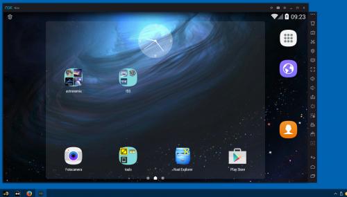 schermata 1440 x 900 del mio tablet virtuale