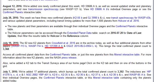 la comunicazione con la quale la NASA conferma una scoperta