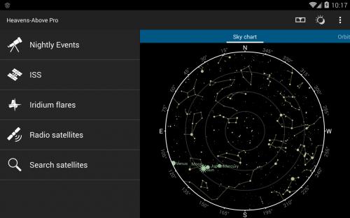 la home page dell'app