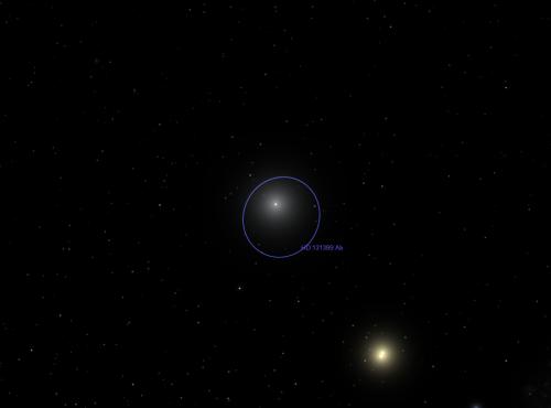 il sistema stellare HD 131399 (attualmente)