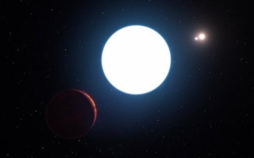 rappresentazione artistica di quello è il sistema stellare in realtà