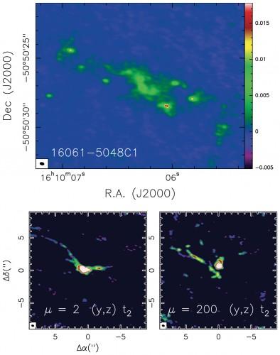 frammentazione di una nube molecolare fredda (circa 20 Kelvin), IRAS 16061-5048C1