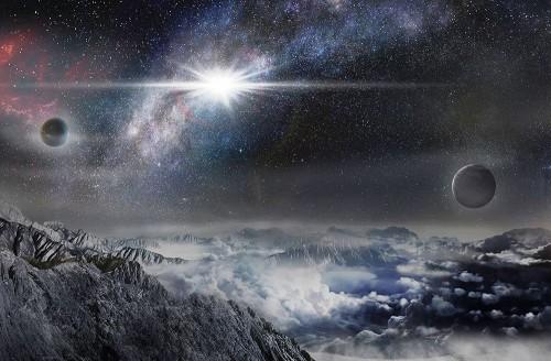 Rappresentazione artistica della supernova ASASSN-15lh, come apparirebbe da un esopianeta distante da essa circa 10.000 anni luce. Crediti: Beijing Planetarium / Jin Ma