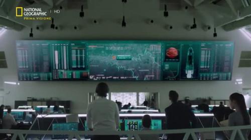 l'immagine del centro di controllo della missione