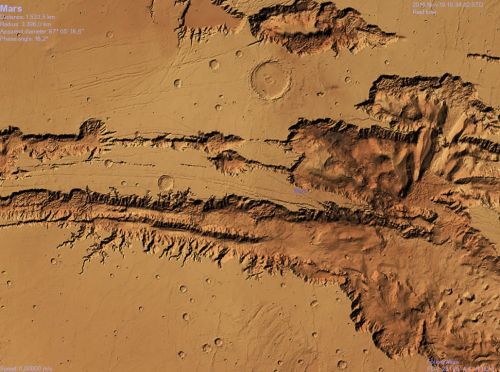 foto della parte centrale della Valles Marineris fatta con Celestia)