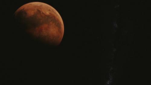la Via Lattea ed il pianeta rosso