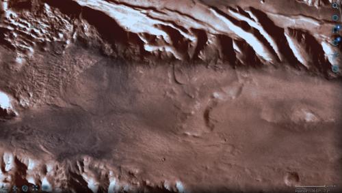 la mappa della zona tratta dal sito della NASA