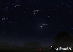 Congiunzione Luna - Pleiadi, giorno 4 ore 23