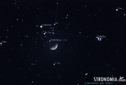 Congiunzione Luna - Pleiadi, giorno 4 ore 20