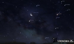 Congiunzione Luna - Saturno, giorno 20 ore 3