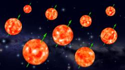 Allineamento degli assi di rotazione in un gruppo di giganti rosse appartenenti allo stesso ammasso stellare.