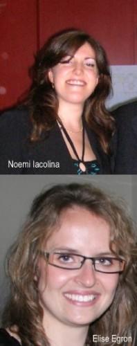 Noemi Iacolina (in alto) ed Elise Egron (in basso),  le due ricercatrici cagliaritane del team autore della scoperta