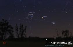 Congiunzione Luna - Marte, giorno 28 ore 21