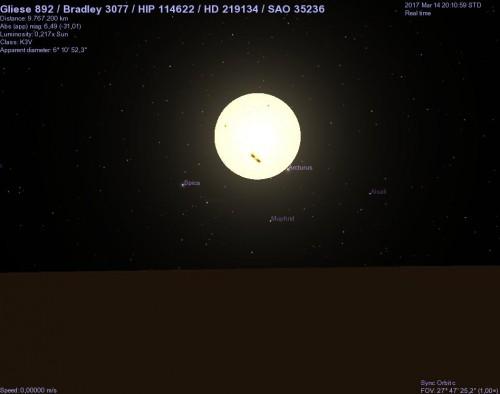 hd 219134 vista dal pianeta c