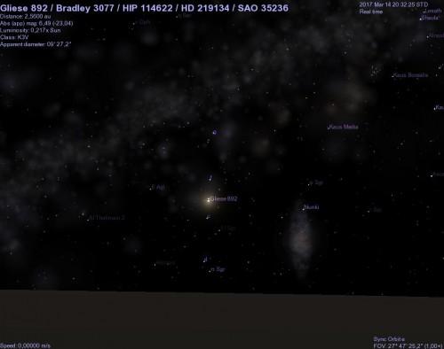hd 219134 vista dal pianeta e