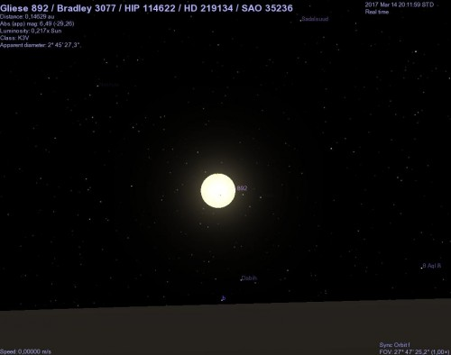 hd 219134 vista dal pianeta f