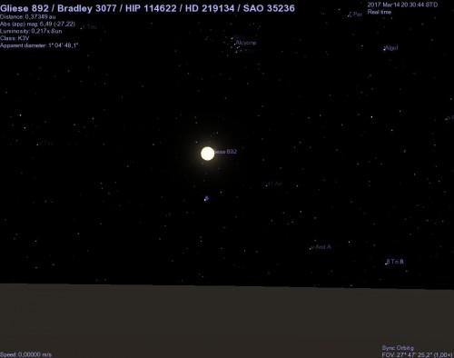 hd 219134 vista dal pianeta g