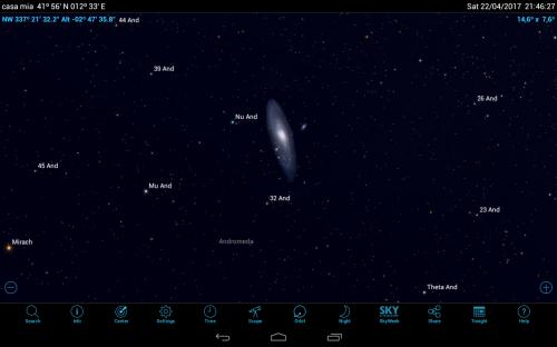 la galassia di Andromeda, M31