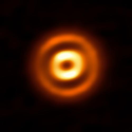Il disco di polvere che circonda la giovane stella HD 169142 ripreso da ALMA (Atacama Large Millimeter/submillimeter Array) dell'ESO. Gli anelli vividi sono ampie strisce di polvere, separate da profondi spazi vuoti. Crediti: ALMA (ESO / NAOJ / NRAO)/ Fedele et al.