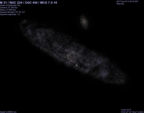 il modello di M31 da parte di Celestia