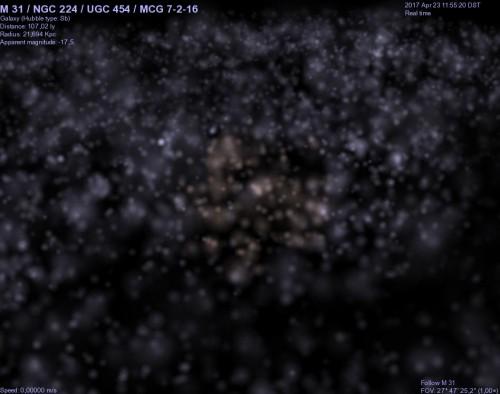 ci siamo avvicinati ad M31 !