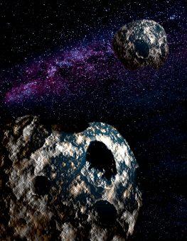 Rappresentazione artistica di una coppia formata da due planetoidi, simili a quelli studiati da Fraser e colleghi. Crediti: Gemini Observatory/AURA, disegno di Joy Pollard