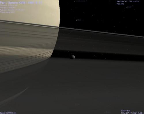 il satellite Pan con Celestia