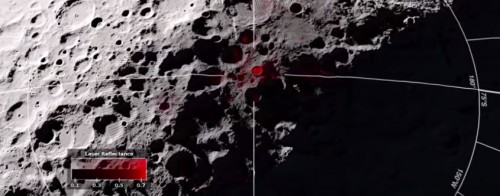 Nell'area del polo sud della Luna: un cratere rivela la possibile presenza di ghiaccio d'acqua.