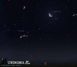 Congiunzione Luna -  Pleiadi, giorno 15 ore 2