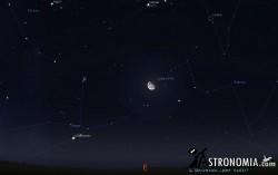 Congiunzione Luna - Pleiadi, giorno 11 ore 00:30