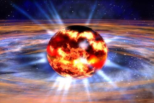 Rappresentazione di una stella di neutroni. Crediti: Nasa