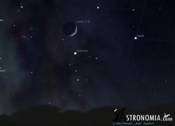Congiunzione Luna - Saturno, giorno 24 ore 20