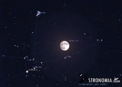 Congiunzione Luna - Pleiadi, giorno 2 ore 20:45