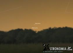 Congiunzione Mercurio - Saturno, giorno 6 ore 17