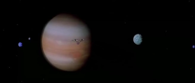 l'approccio dell'Enterprise al sistema di Giove