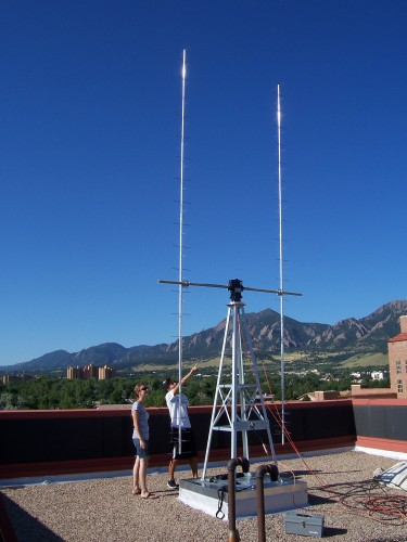 Ground station Csswe. Crediti: Università del Colorado a Boulder